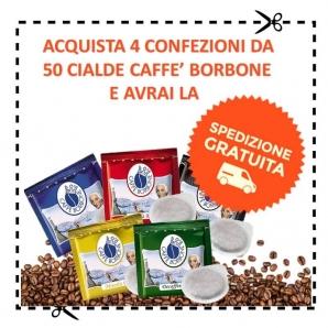 SPEDIZIONE GRATUITA CON CAFFE' BORBONE : ACQUISTA 4 CONFEZIONI DA 50 CIALDE IN CARTA A SCELTA DI CAFFE' BORBONE 0,00€