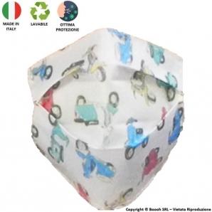 MASCHERINA LAVABILE VESPE 50 SPECIAL COLORATE - PRODOTTA IN ITALIA AL 100% E MOLTO COMODA CON LE ALTE TEMPERATURE ESTIVE 5,70€