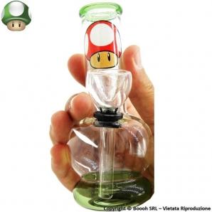 MINI BONG FANTASIA FUNGHETTO SUPER MARIO - MATERIALE VETRO ALTEZZA 12,5cm | OTTIMA IDEA REGALO FUMATORE 12,59€