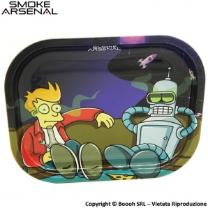 VASSOIO PER ROLLARE STONED IN SPACE CON DENVER E FRY - PROFESSIONAL SMALL ROLLING TRAY by SMOKE ARSENAL 10,99 €
