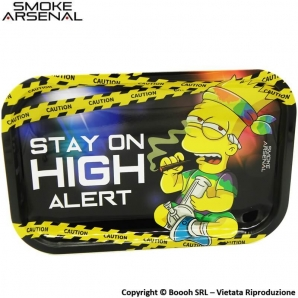 VASSOIO PER ROLLARE HIGH ALERT - PROFESSIONAL MEDIUM ROLLING TRAY by SMOKE ARSENAL | IDEA REGALO FUMATORE 14,99 €