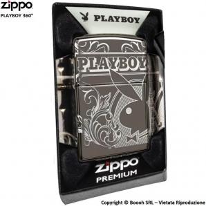 ZIPPO PLAYBOY 360° PREMIUM COD.49085 ACCENDINO A BENZINA E ANTIVENTO - IDEA REGALO FUMATORE 71,41€