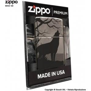 ZIPPO WOLF 3D PREMIUM COD.49188 LUPO SOLITARIO - ACCENDINO A BENZINA E ANTIVENTO | IDEA REGALO FUMATORE 63,84€