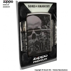 ZIPPO SONS OF ANARCHY SOA COD.49192 - ACCENDINO A BENZINA E ANTIVENTO | IDEA REGALO FUMATORE 73,84 €