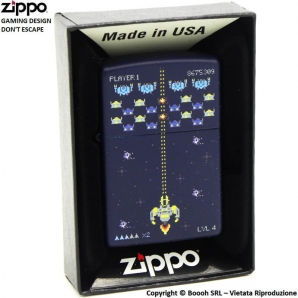 ZIPPO GAMING DON'T ESCAPE DESIGN COD.49114 - ACCENDINO A BENZINA E ANTIVENTO | IDEA REGALO FUMATORE 41,99 €