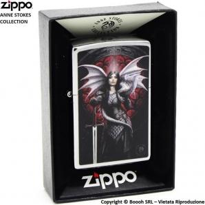 ZIPPO ANNE STOKES COD.49096 - ACCENDINO A BENZINA E ANTIVENTO | IDEA REGALO FUMATORE 37,99€