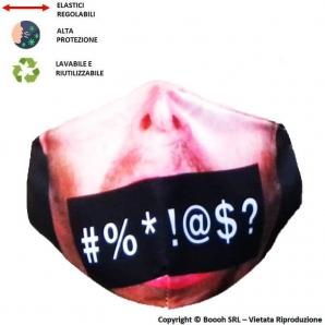 MASCHERINA LAVABILE, REGOLABILE E IGIENIZZABILE FANTASIA DON'T SAY FUCK - 3 STRATI | ALTAMENTE COMFORTEVOLE 7,13€