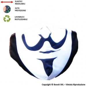 MASCHERINA LAVABILE, REGOLABILE E IGIENIZZABILE FANTASIA ANONYMUS - 3 STRATI | ALTAMENTE COMFORTEVOLE 7,13€