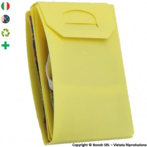 PORTA MASCHERINA TASCABILE E IGIENIZZABILE 4MASK by ITALFELTRI - COLORE GIALLO IN POLIPROPILENE RICICLABILE | MADE IN ITALY 2...