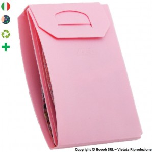 PORTA MASCHERINA TASCABILE E IGIENIZZABILE 4MASK by ITALFELTRI - COLORE ROSA IN POLIPROPILENE RICICLABILE | MADE IN ITALY 2,99 €