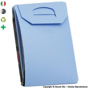 PORTA MASCHERINA TASCABILE E IGIENIZZABILE 4MASK by ITALFELTRI - COLORE AZZURRO IN POLIPROPILENE RICICLABILE | MADE IN ITALY ...