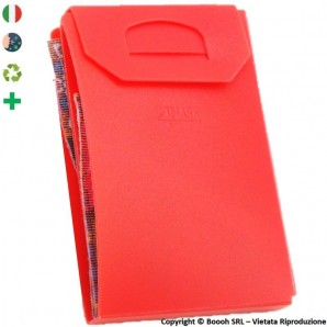 PORTA MASCHERINA TASCABILE E IGIENIZZABILE 4MASK by ITALFELTRI - COLORE ROSSO CORALLO - PLP RICICLABILE | MADE IN ITALY 2,99€