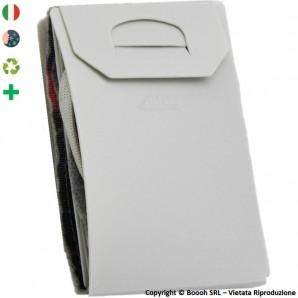 PORTA MASCHERINA TASCABILE E IGIENIZZABILE 4MASK by ITALFELTRI - COLORE GRIGIO - POLIPROPILENE RICICLABILE | MADE IN ITALY 2,...