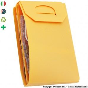 PORTA MASCHERINA TASCABILE E IGIENIZZABILE 4MASK by ITALFELTRI - COLOR PESCA - POLIPROPILENE RICICLABILE | MADE IN ITALY 2,99€