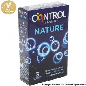 PROFILATTICI CONTROL NATURE - ASTUCCIO DA N.3 PRESERVATIVI CLASSICI SENZA AROMA 3,30€