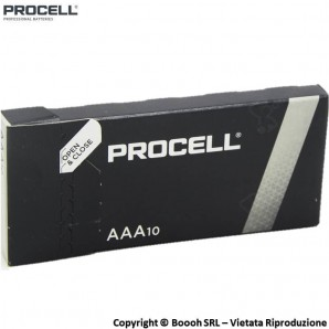 PROCELL DURACELL INDUSTRIAL MINISTILO AAA ALCALINE - SCATOLA DA 10 BATTERIE TRIPLA A 3,69 €