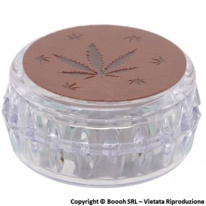 GRINDER BROWN LEAF CANNABIS - TRITATABACCO DIVISIBILE IN 3 PARTI CON CHIUSURA MAGNETICA | IDEA REGALO 7,98 €