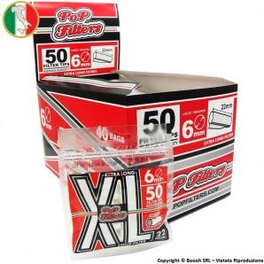 POP FILTERS BAG FILTRI SLIM XL LONG 22mm LISCI - BOX DA 40 BUSTINE DA 50 FILTRINI SUPER LUNGHI 27,69€