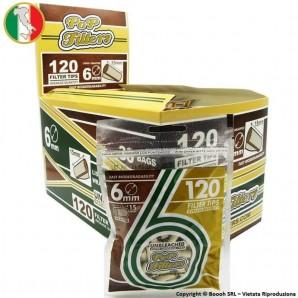 POP FILTER FILTRI SLIM 6mm ECO BIODEGRADABILI - BOX 30 BUSTINE DA 120 FILTRINI UNBLEACHED 46,59€