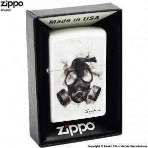 ZIPPO SPAZUK ATOMIC MASK COD.29646 - ACCENDINO A BENZINA E ANTIVENTO | IDEA REGALO FUMATORE 41,99€