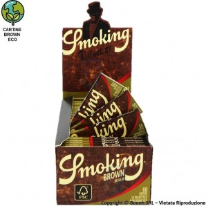 SMOKING CARTINE BROWN CORTE SINGOLE SINGOLE - BOX DA 50 LIBRETTI DA 60 CARTINE 34,95€