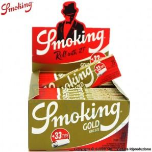 CARTINE SMOKING LUNGHE ORO + FILTRI IN CARTA - BOX DA 24 LIBRETTI E 24 BLOCCHETTI DI FILTER TIPS 37,65€