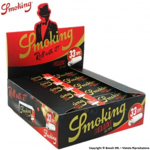 SMOKING FILTRI IN CARTA - BOX DA 50 BLOCCHETTI DA 33 FILTRINI IN CARTONCINO 30,37 €