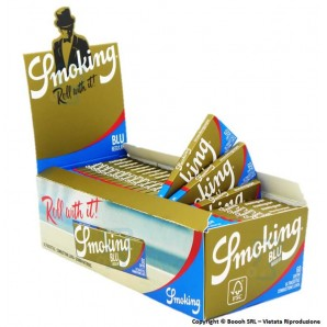 CARTINE SMOKING BLU CORTE SINGOLE REGULAR SIZE - BOX DA 50 LIBRETTI 34,44 €