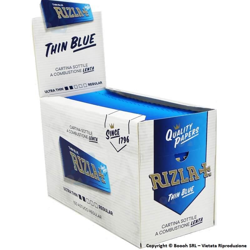 RIZLA CARTINA BLU CORTA SINGOLA REGULAR - CONFEZIONE DA 100 LIBRETTI DA 50 CARTINE 59,98€