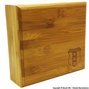 SPLIFF BOX AMSTERDAM XXX - STAZIONE DI ROLLAGGIO IN LEGNO BAMBOO CON CHIUSURA MAGNETICA | IDEA REGALO 19,88€