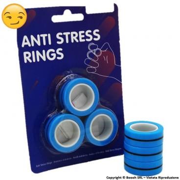 ANTRISTRESS MAGNETIC RING - BLISTER DA 3 ANELLI MAGNETICI BLU
