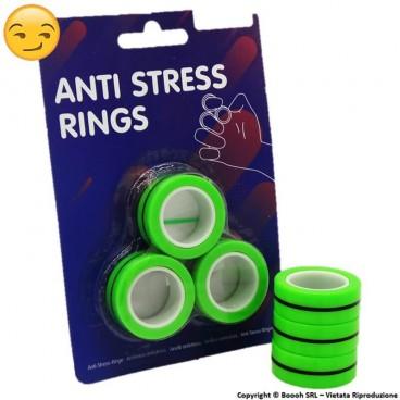 ANTRISTRESS MAGNETIC RING - BLISTER DA 3 ANELLI MAGNETICI VERDE FLUO