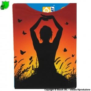 CUSTODIA PROTETTIVA ANTI CLONAZIONE E SMAGNETIZZAZIONE BANCOMAT CARTE CONTACTELSS NFC/RFID - SHIELD CARD FANTASIA YOGA 2,99€