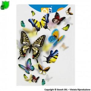 CUSTODIA PROTETTIVA ANTI CLONAZIONE E SMAGNETIZZAZIONE BANCOMAT CARTE CONTACTELSS NFC/RFID - SHIELD CARD FARFALLE 2,99€