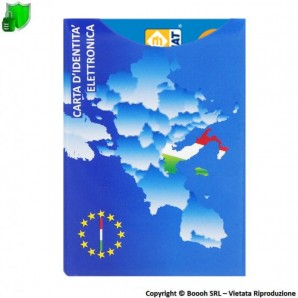 CUSTODIA PROTETTIVA ANTI CLONAZIONE E SMAGNETIZZAZIONE BANCOMAT CARTE CONTACTELSS NFC/RFID - SHIELD CARD EUROPA EU 2,99€