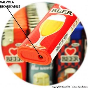 ATOMIC ACCENDINI FIAMMA TURBO ANTIVENTO ''BEER'' - 1 BOX DA 50 ACCENDINI 26,99€