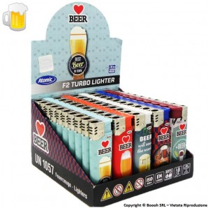 ATOMIC ACCENDINI FIAMMA TURBO ANTIVENTO ''BEER'' - 1 BOX DA 50 ACCENDINI 26,99 €