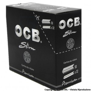CARTINE OCB NERE PREMIUM KING SIZE LUNGHE SLIM - BOX DA 50 LIBRETTI DA 32 CARTINE 41,65 €
