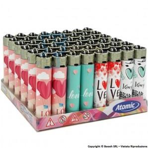 ATOMIC FESTIVAL HEARTS AND LOVE ACCENDINI LARGE RICARICABILI- BOX DA 48 ACCENDINI CON FIAMMA REGOLABILE 19,89€