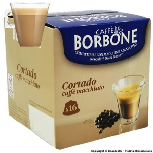 BORBONE BEVANDA CORTADO AL GUSTO DI CAFFE' MACCHIATO - SCATOLETTA DA 16 CAPSULE COMPATIBILI CON I SISTEMI NESCAFE' DOLCE GUST...