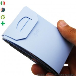 PACK DA 5 PORTA MASCHERINA TASCABILI E IGIENIZZABILI 4MASK by ITALFELTRI - COLORE AZZURRO | MADE IN ITALY 14,95€