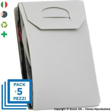 PACK DA 5 PORTA MASCHERINA TASCABILI E IGIENIZZABILI 4MASK by ITALFELTRI - COLORE GRIGIO | MADE IN ITALY