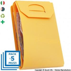 PACK DA 5 PORTA MASCHERINA TASCABILI E IGIENIZZABILI 4MASK by ITALFELTRI - COLORE PESCA | MADE IN ITALY 14,95€