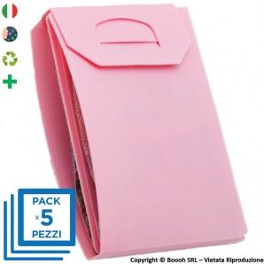 PACK DA 5 PORTA MASCHERINA TASCABILI E IGIENIZZABILI 4MASK by ITALFELTRI - COLORE ROSA| MADE IN ITALY 14,95€