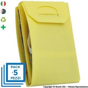 PACK DA 5 PORTA MASCHERINA TASCABILI E IGIENIZZABILI 4MASK by ITALFELTRI - COLORE GIALLO| MADE IN ITALY 14,95€