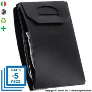 PACK DA 5 PORTA MASCHERINA TASCABILI E IGIENIZZABILI 4MASK by ITALFELTRI - COLORE NERO| MADE IN ITALY 14,95€