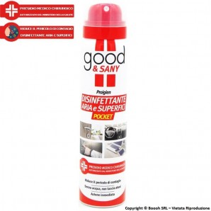 GOOD&SANY SPRAY DISINFETTANTE PER ARIA E SUPERFICI - PRESIDIO MEDICO CHIRURGICO | BOMBOLETTA POCKET DA 100 ML 8,32 €