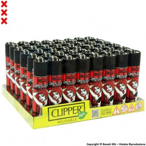 ACCENDINI CLIPPER AMSTERDAM XXX SEXY RED GIRL - BOX DA 48 ACCENDINI LARGE RICARICABILI LIMITED EDITION 49,99 €