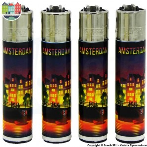 ACCENDINO CLIPPER AMSTERDAM CANAL XXX - LARGE E RICARICABILE | LIMITED EDITION 4,20 €