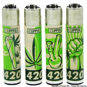 ACCENDINI CLIPPER 420 TIME - SERIE COMPLETA DA 4 ACCENDINI LARGE GRANDI RICARICABILI 5,99€